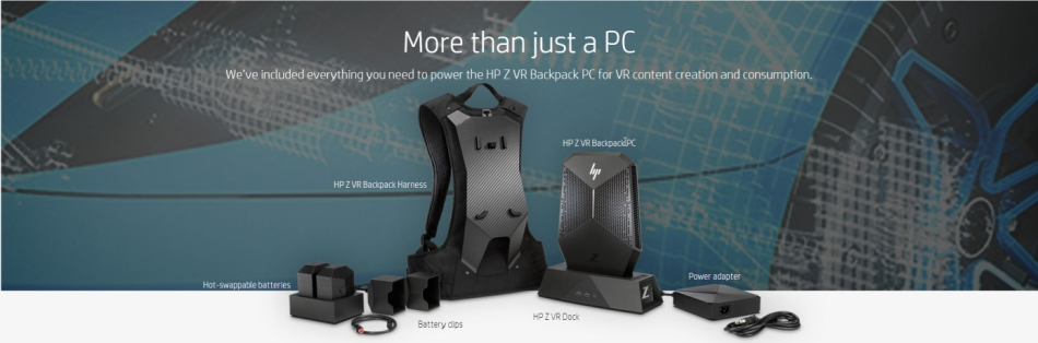 HP Z VirtualReality backpack PC