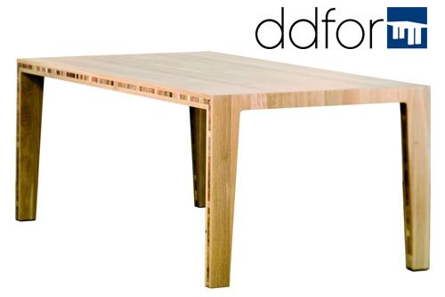 Houten design tafel muk van ddfor nederlands ontwerp for Tafel ontwerp