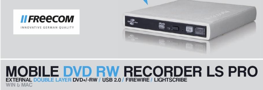 Freecom dvd rw recorder ls pro